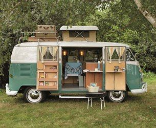 VW Bus/ camper...has a potty,enclosed shower, sink stove