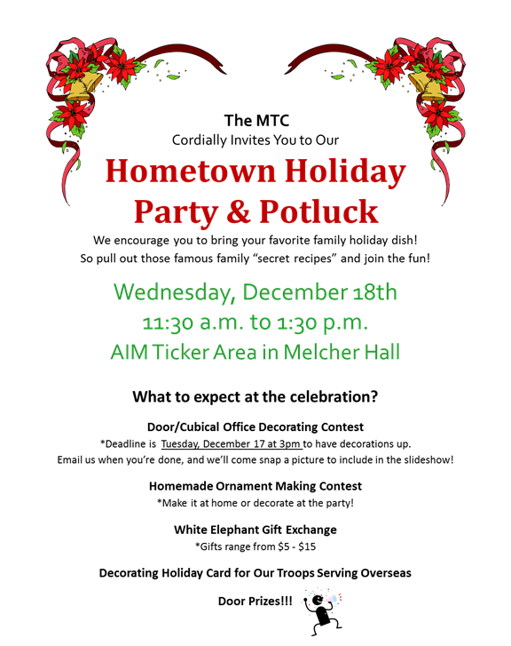 Office Potluck Invitation | Hometown Holiday Party ...