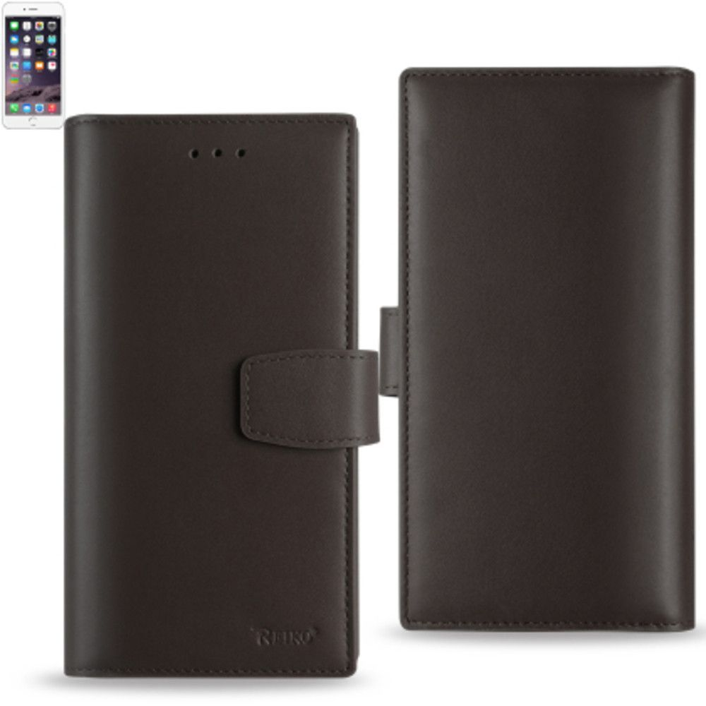Reiko Genuine Leather Hidden Wallet Case For Iphone 6/ 6S 4.7Inche With Rfid Shielded Card Slots Umber