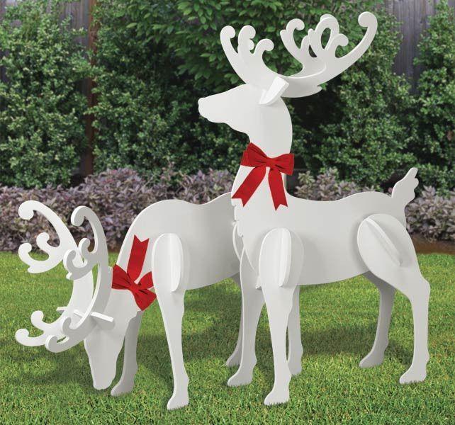 All Weather Large Reindeer Yard Display Renos Navidenos Venado Navideno Manualidades Navidenas