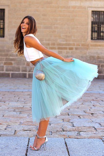 6a8d1c5ea7 Trendy taste ♡ tutu skirt Damas De Honor Aguamarina