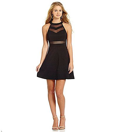 Just g black dress illusion