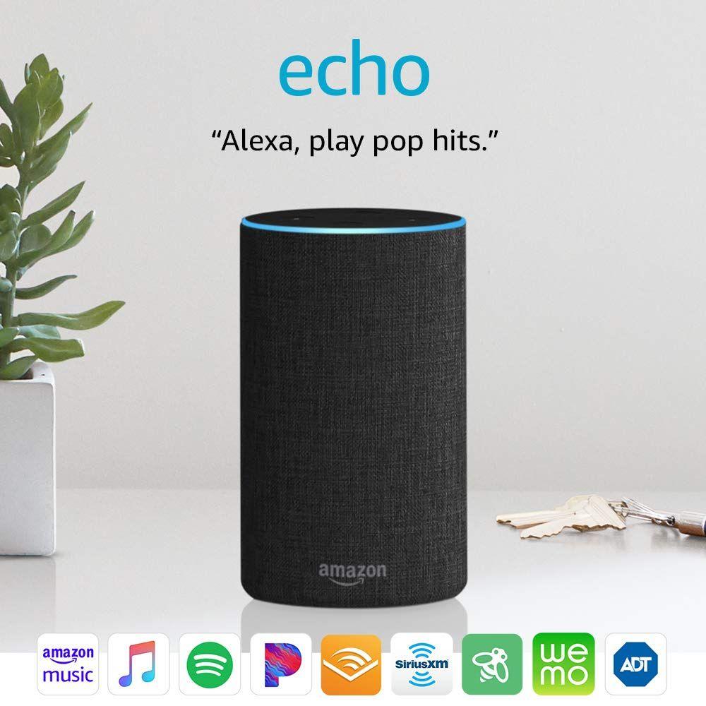Echo 2nd Generation Smart Speaker With Alexa Charcoal Fabric