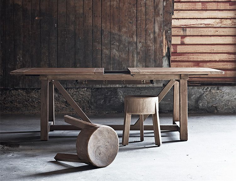 A solid hardwood stool for indoor outdoor use dining