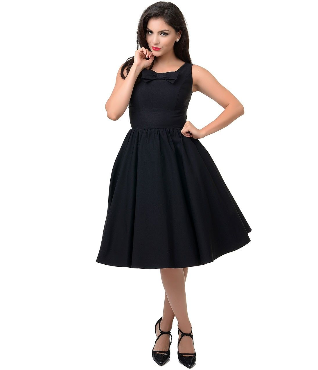 Stop Staring! #1950s Style Little Black Swing Dress #uniquevintage ...
