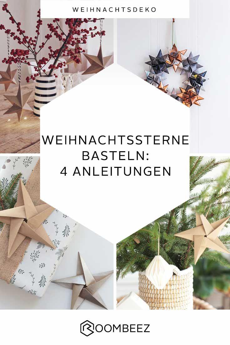 ✩ Bastelideen für Weihnachtssterne ✩