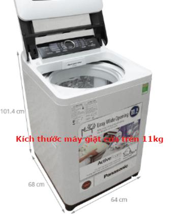 Kích thước máy giặt phổ biến