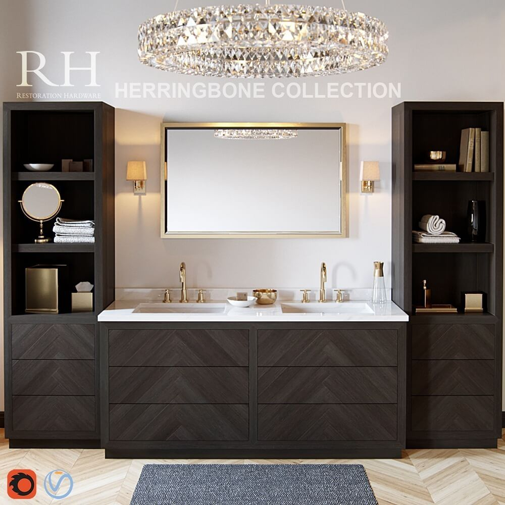 Restoration hardware Herringbone collection 3D model ...