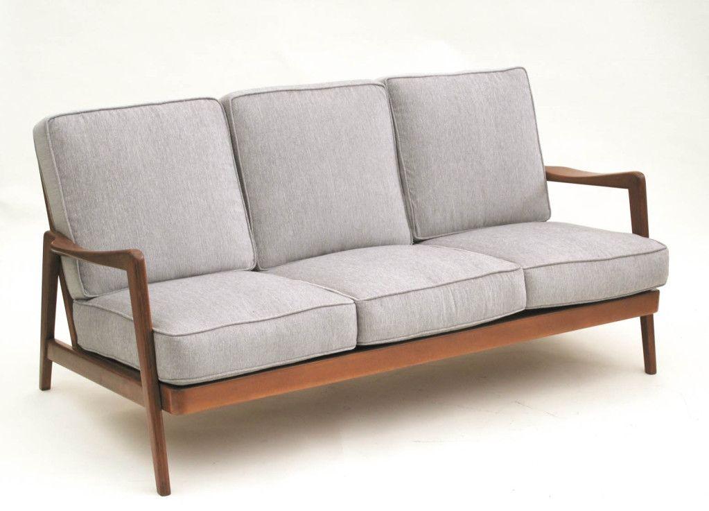 Dux Mid Century Scandinavian Design Wood Frame Sofa 1960s From