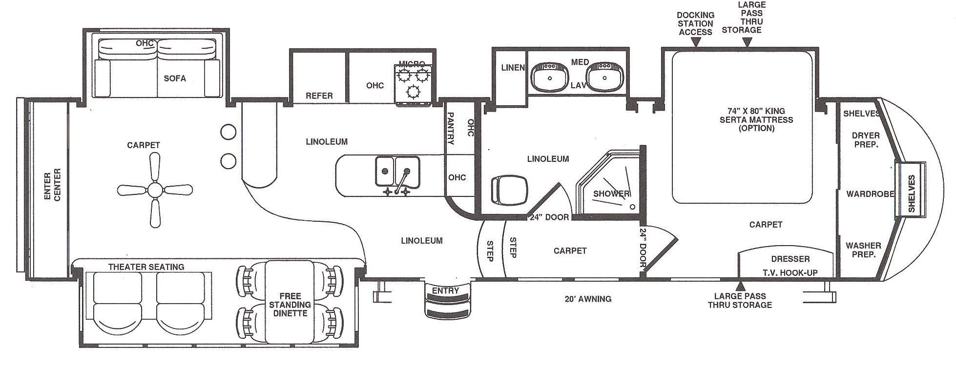 5th wheel floor plans with rear kitchen 5th wheel rv camper dealer rh pinterest com