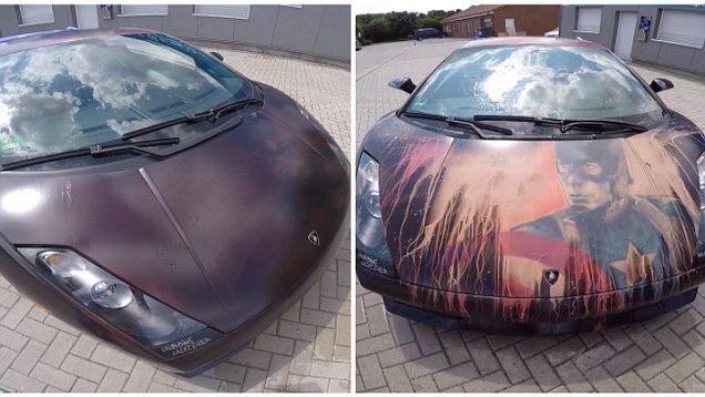 Watch A Purple Lamborghini Change Colour Thermochromic