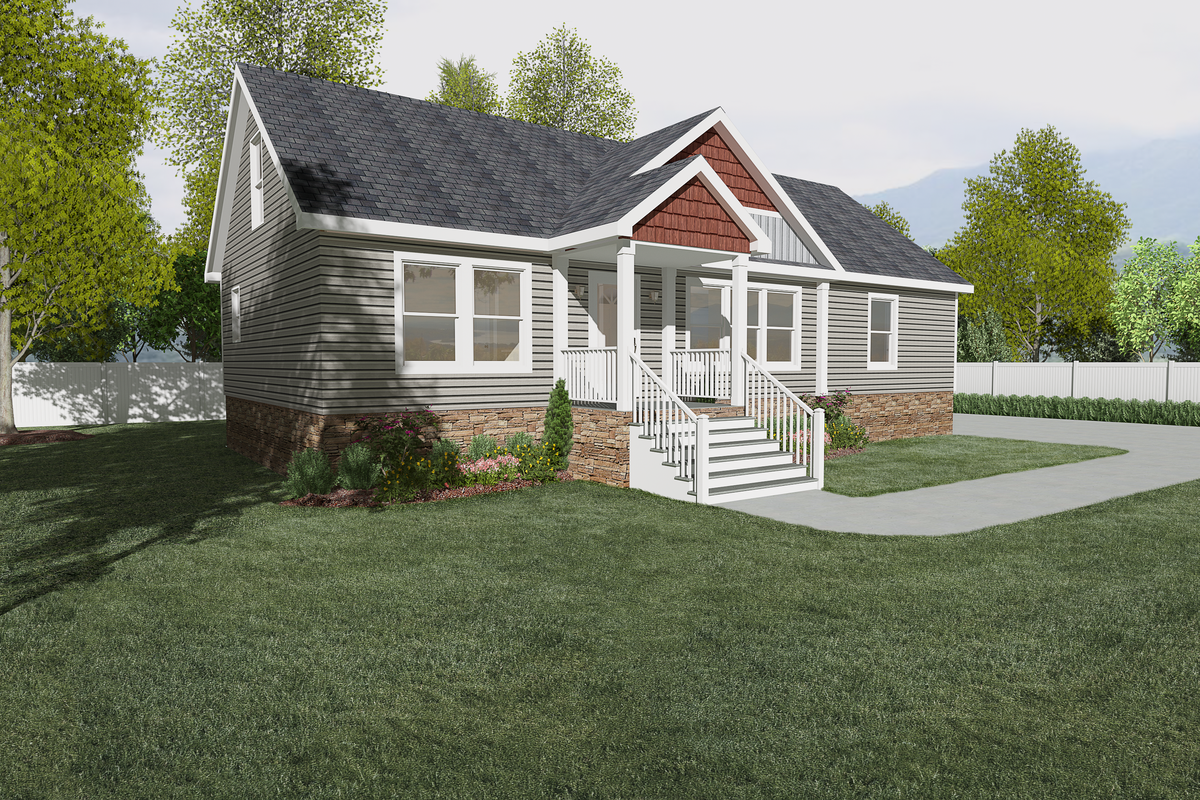 5028267 Clayton homes, House exterior, Double wide home