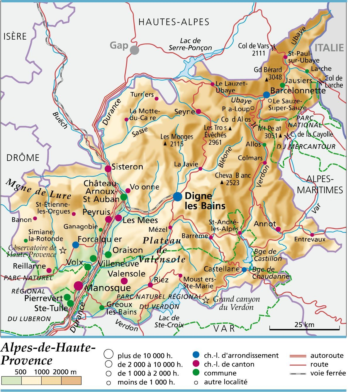 Carte Des Alpes De Haute Provence Carte Randonnee Carte De