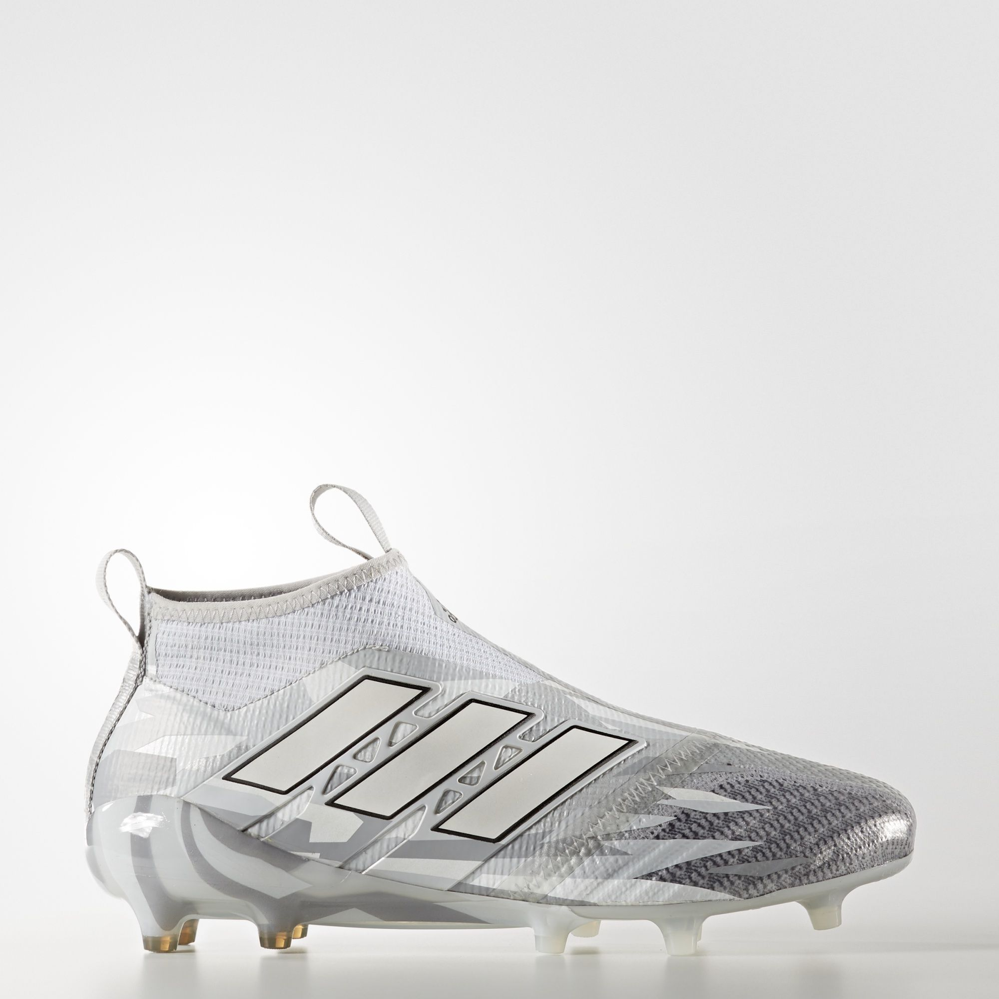 adidas - ACE 17+ Purecontrol Firm Ground Cleats Clear Grey / Running White  Ftw /