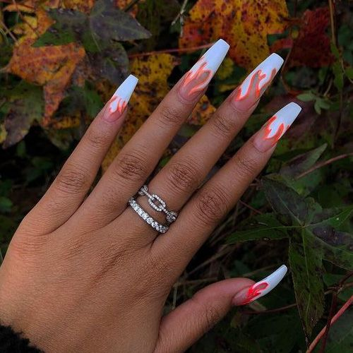 Coffin Nails 40 Of The Best Coffin Nails For 2020 Fire Nails Pretty Acrylic Nails Best Acrylic Nails