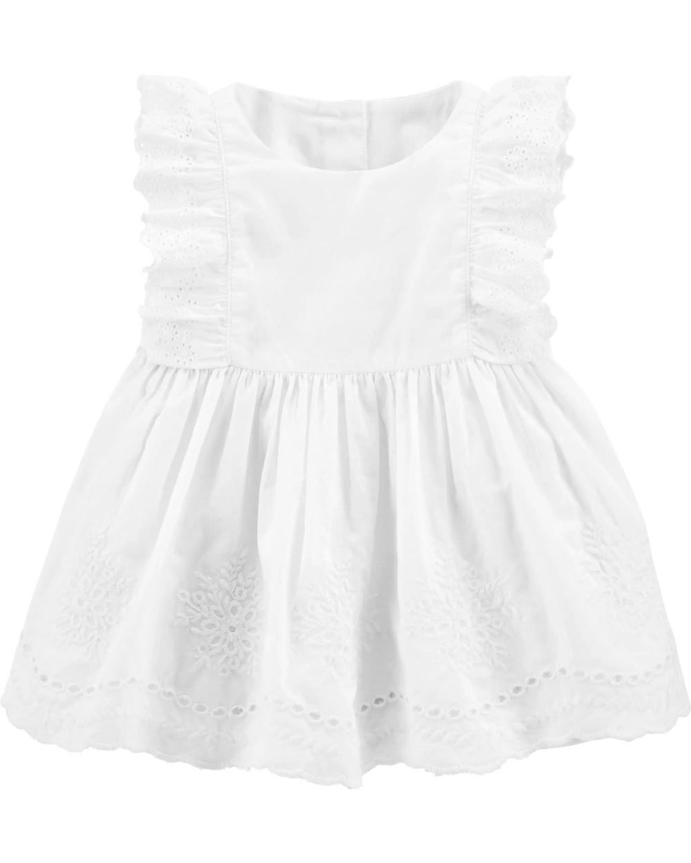 Eyelet Dress Baby Girl Outfits Summer Baby Girl Dresses Little Dresses [ 1250 x 1000 Pixel ]
