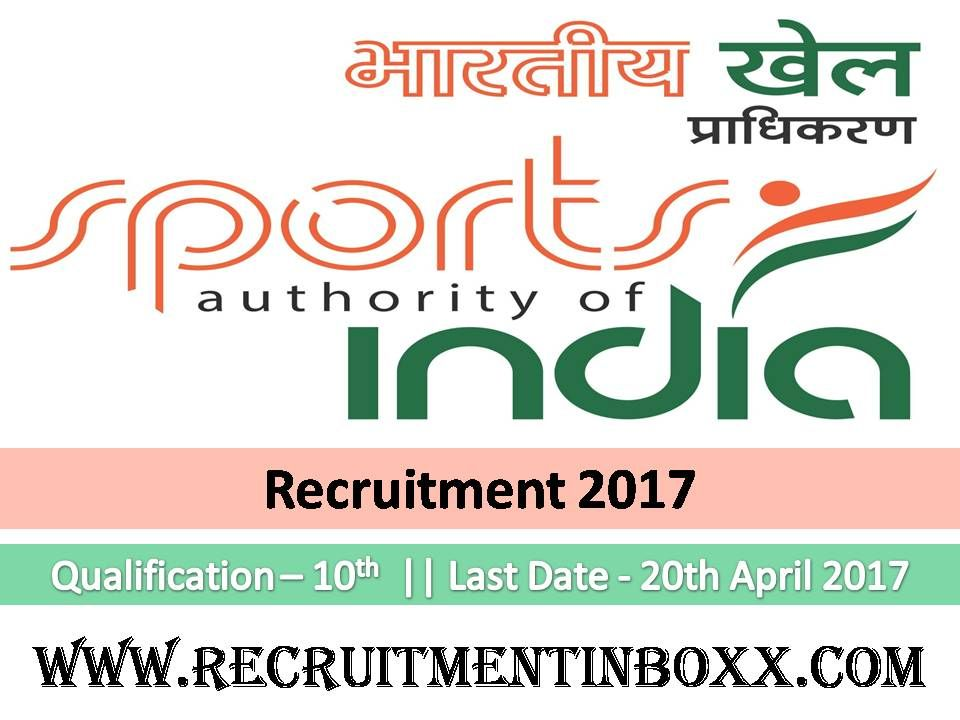 Sports Authority of India Recruitment 2018 SAI 36 Manager