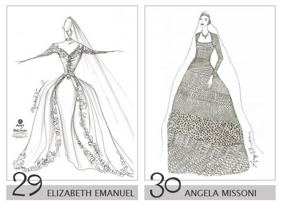 15 royalty wedding dress design sketch ideas for