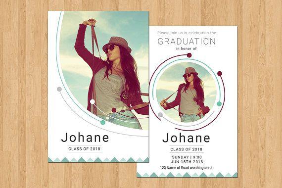 Senior Graduation Announcement Graduation Invitation  Online Shop