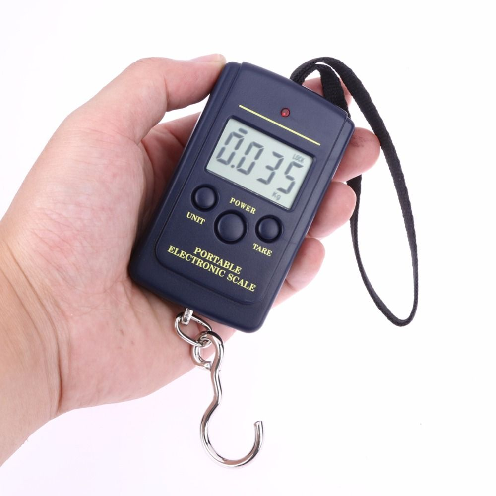 40 kg x 10g Skala Mini Portable Digital Elektronik Hanging Fishing ...