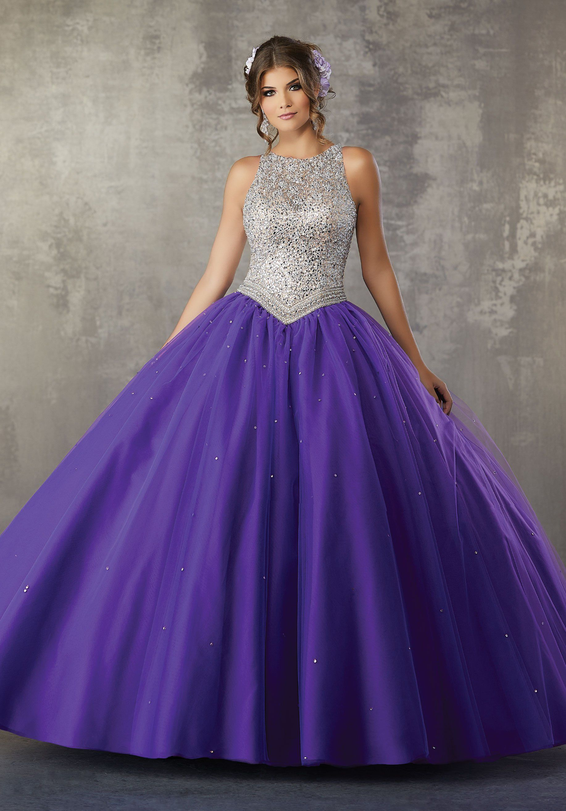 Beaded Tulle Quinceanera Dress by Mori Lee Valencia 60040 ...