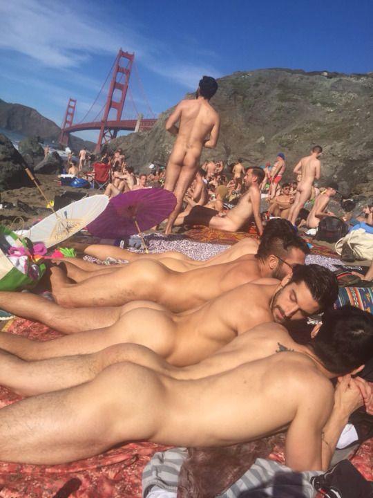 San Francisco Baker Beach Exhibitionists  Exhib Men -4536