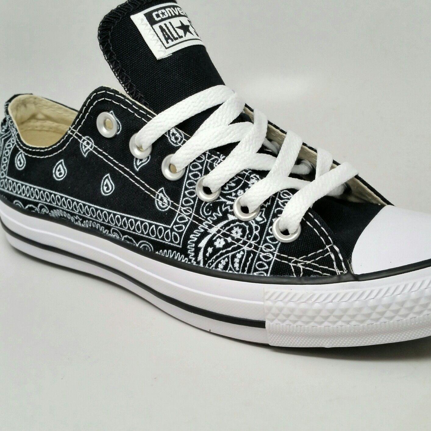 bb4c412588 Black Bandana Custom Converse