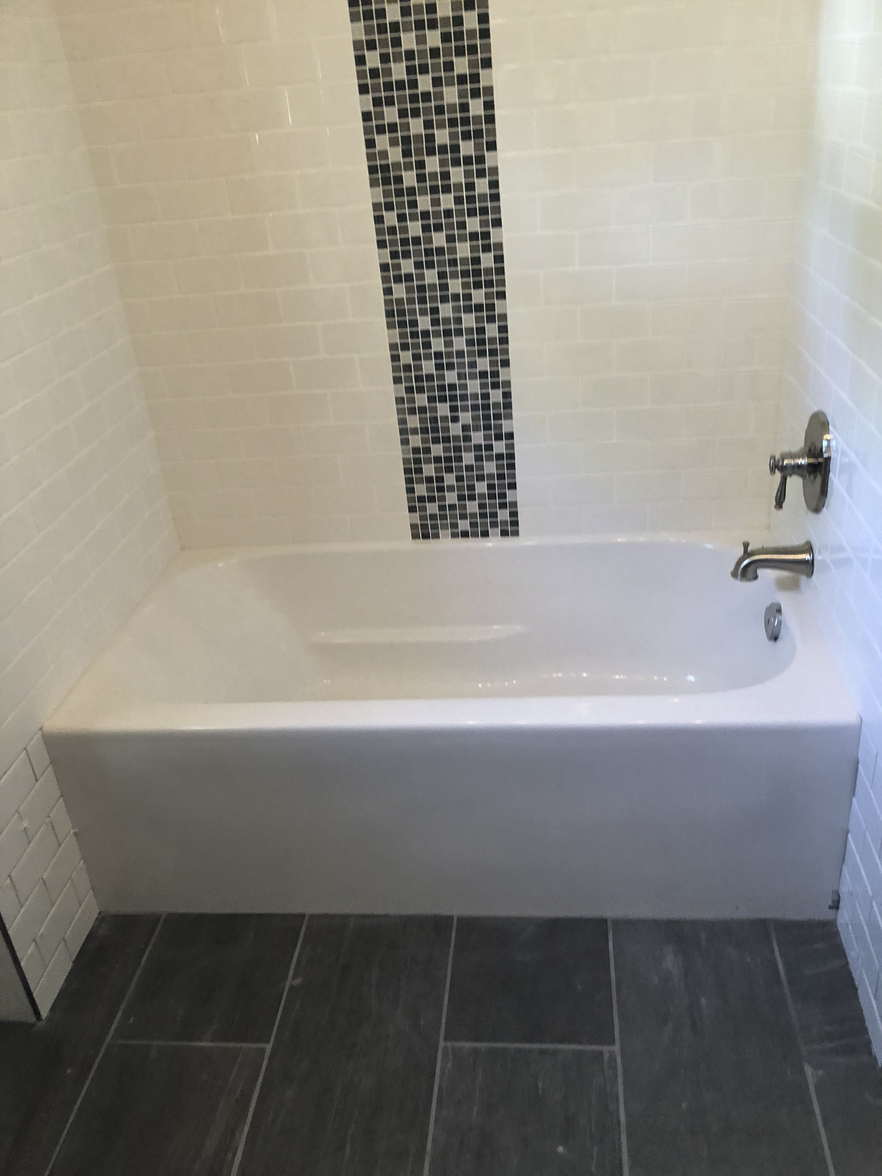 white subway tile with accent waterfall waterfall tile layout in rh pinterest com