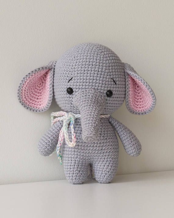 Amazon.com: Vietsbay Pink Elephant Handmade Amigurumi Stuffed Toy ... | 713x570