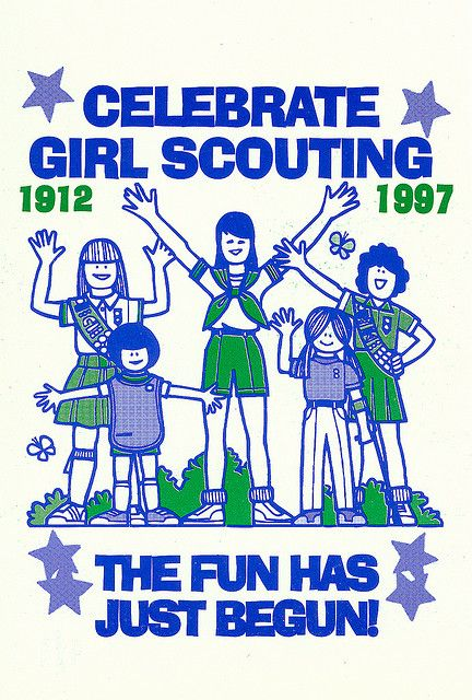 Celebrate Girl Scouting Postcard    Souvenir of the Southern California Girl Scout  Councils 85th Girl Scout Birthday Celebration  May 24-25, 1997  Los Angeles County Fairgrounds  Pomona, California