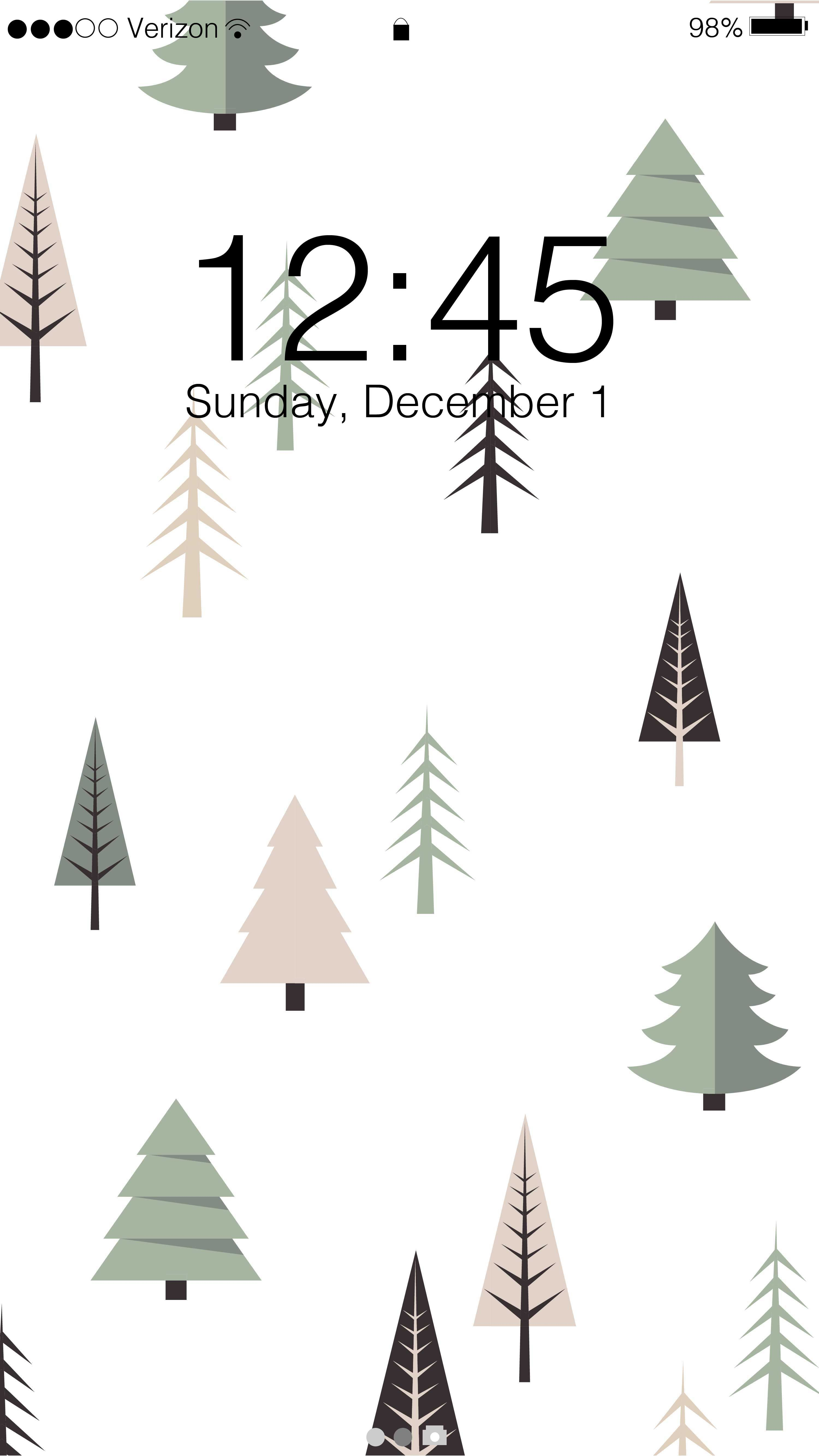 98° At Christmas 2020, December 1 Winter Holiday Phone Wallpaper Free Phone Background This