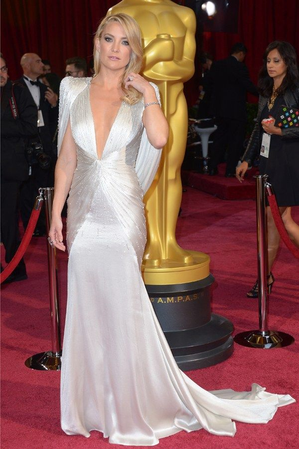 The Oscars 2014  How stunning is Kate Hudson's Atelier Versace gown with its wed-ready train?