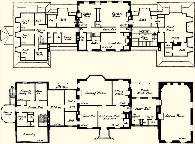 Attractive Pook Hill Architectural Forum, 1931 | Floor Plan P0rn | Pinterest | Country  Houses, Architecture And Mansion