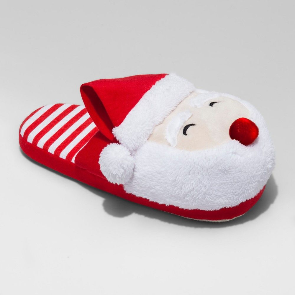 men s santa scuff with light up nose red m 9 10 size m 9 10 rh pinterest dk