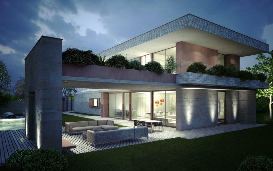 Villa eurosia edilc esame stato casa unifamiliare for Architettura ville moderne