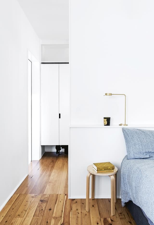 Timber flooring blue bedding white bedroom joinery roomspiration new homes also this brisbane home is full of ideas for renovating with rh pinterest