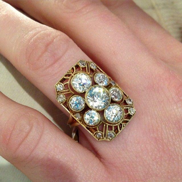 Edwardian Old Euro diamond ring