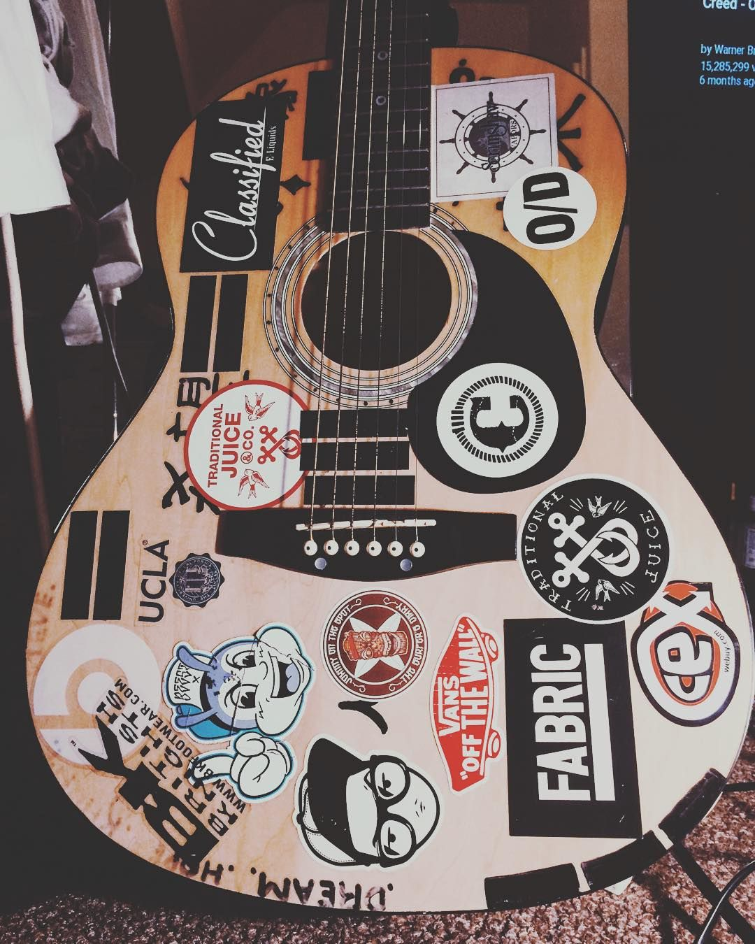 Mielle P On Instagram Escape Music Guitar Stickerbomb Stickerbombing Sticker Bomb Make Your Own Stickers Custom Stickers