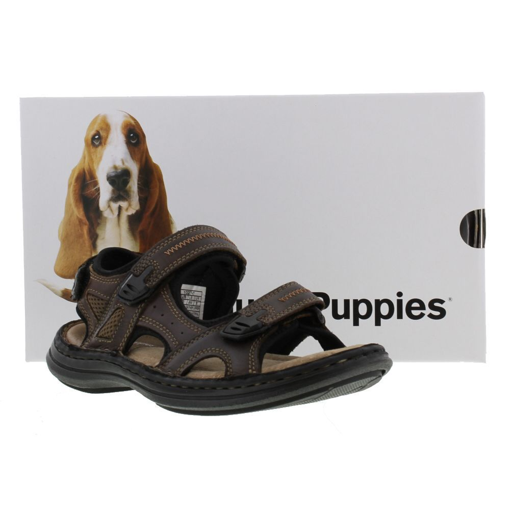 Hush Puppies Shoes, Mens Releif Rafting Dark Brown Waxy - £44.99