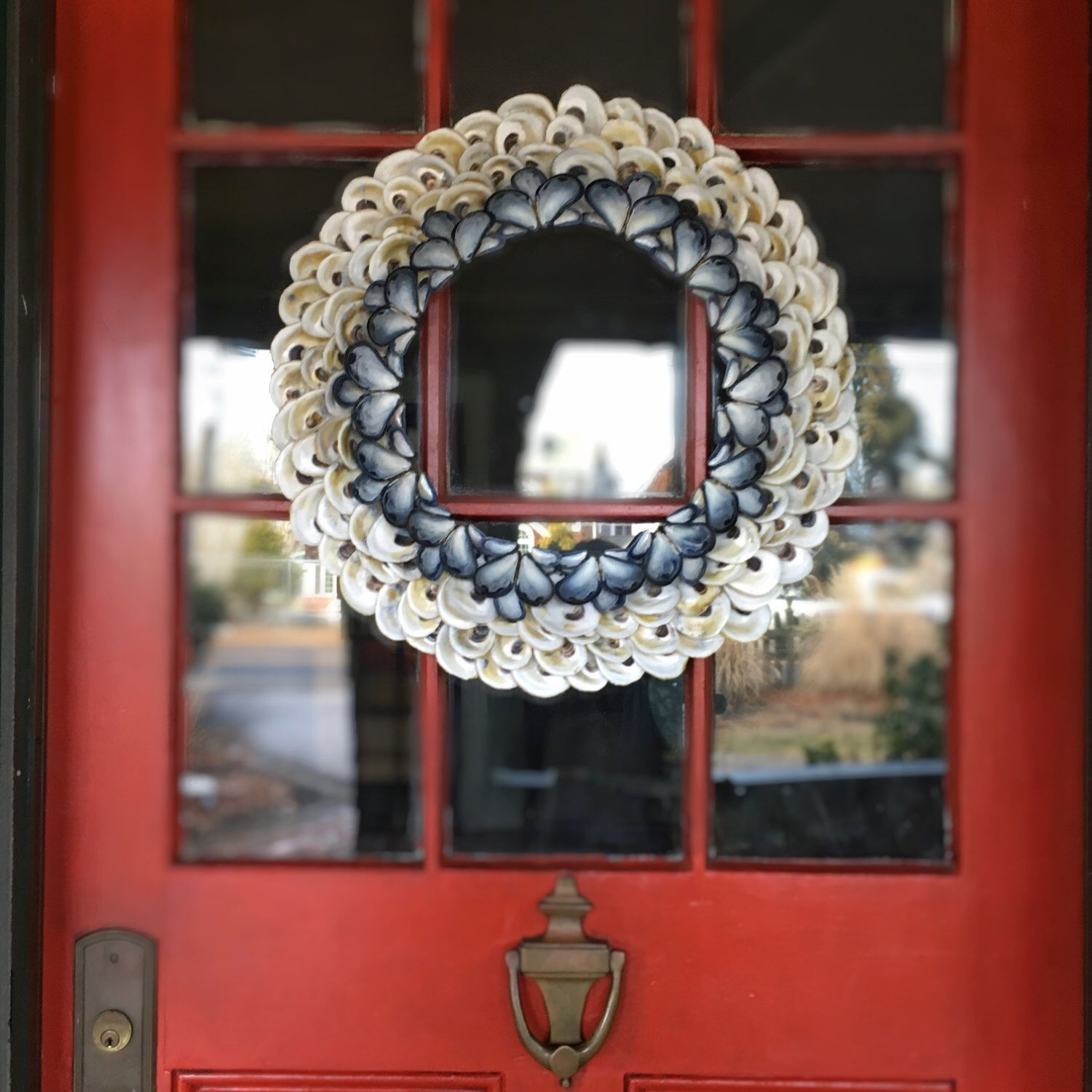 and tan wreath doors front cream in beach coastal mesh pin burlap summer door wreaths