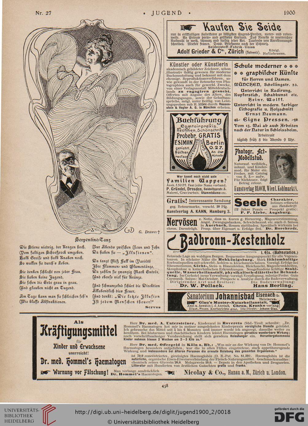 Jugend Münchner Illustrierte Wochenschrift Für Kunst Und Leben