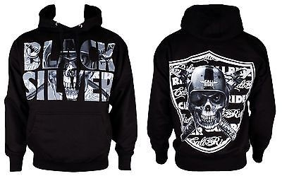 Discount Details about OAKLAND RAIDERS TILL I DIE FOOTBALL BLACK AND SILVER