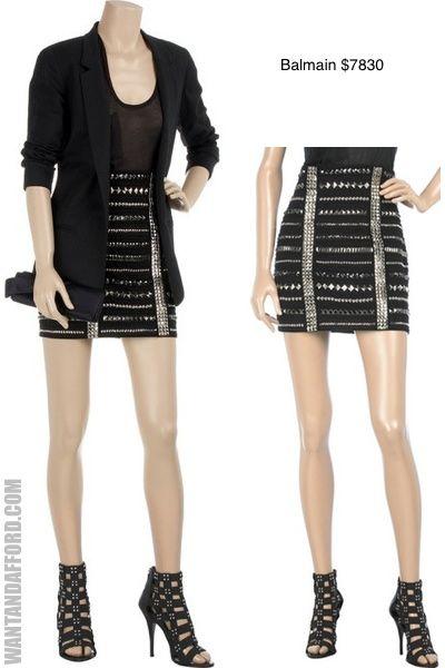 Balmain Studded Skirt