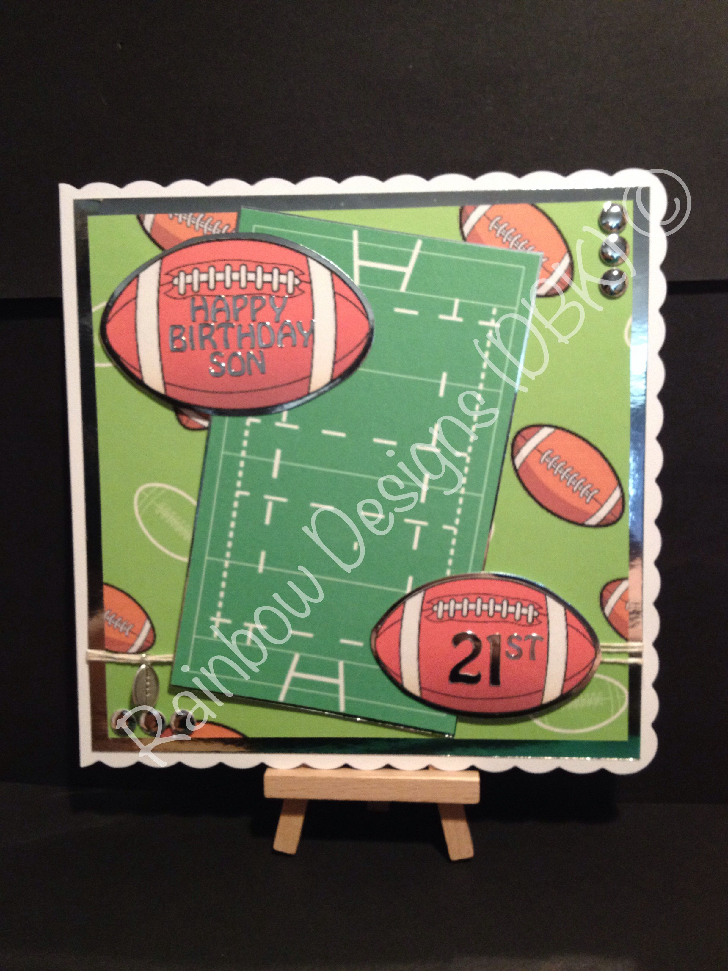 Rugby Themed Birthday Card Cards Handmade Cards Kids Cards