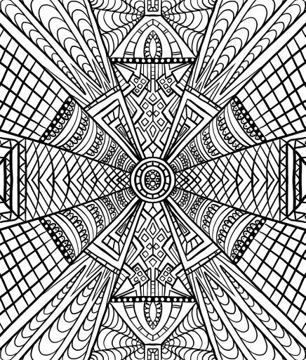 Fun Pattern Coloring Pages Coloring Pages Mandala Coloring