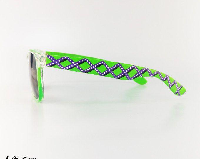 72a8eb767aa Hand painted sunglasses - colorfull unisex Custom art Wayfarer glasses  summer beach eyewear shades art guy 4