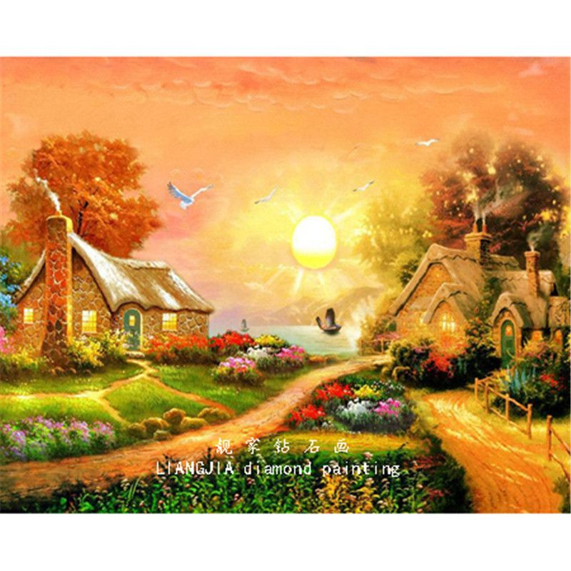 Full Diamond Embroidery Landscape Diamond painting Cross Stitch Kit ...