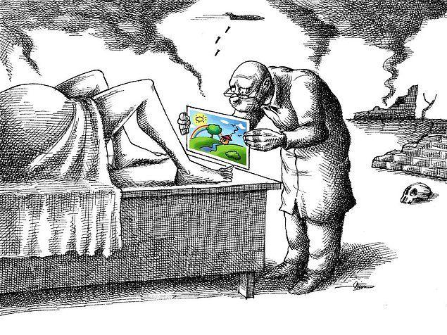 Sürgündeki İranlı Karikatürist Mana Neyestaniden Sistem Karşıtı 100 Karikatür