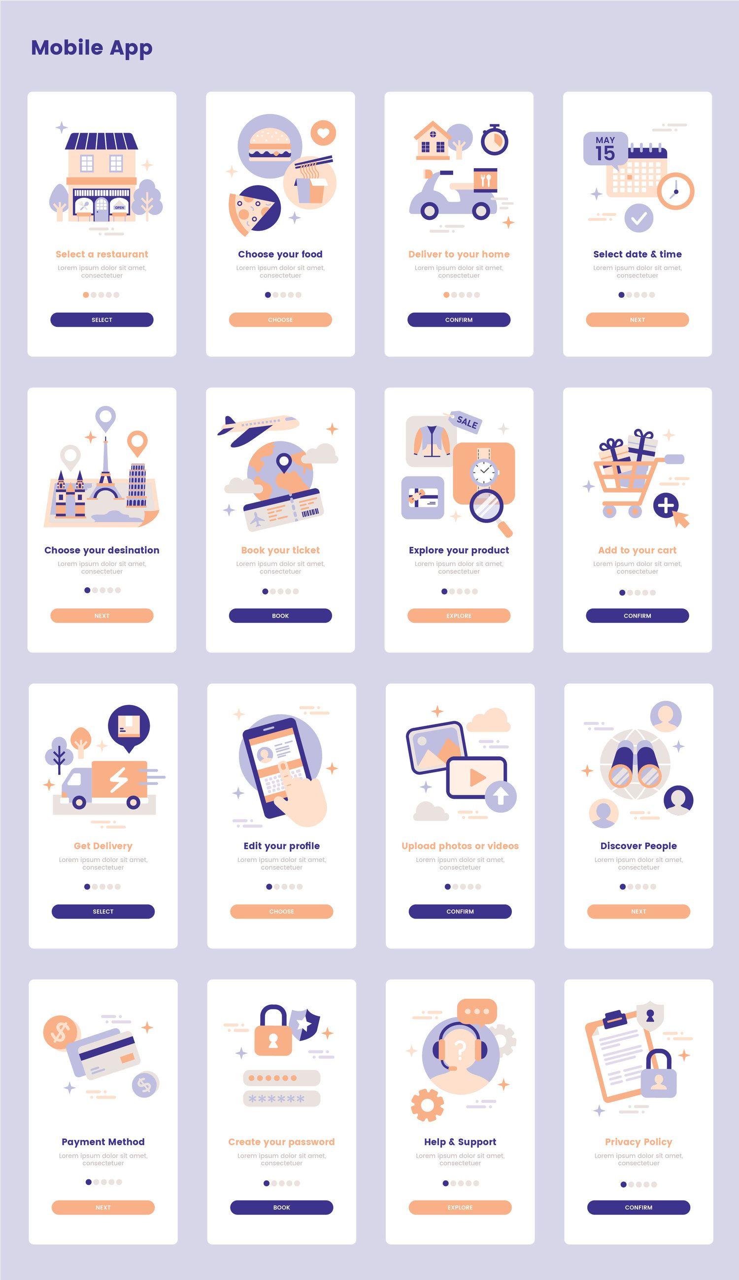 Landing Illustration Pack — UI Place #interfacedesign