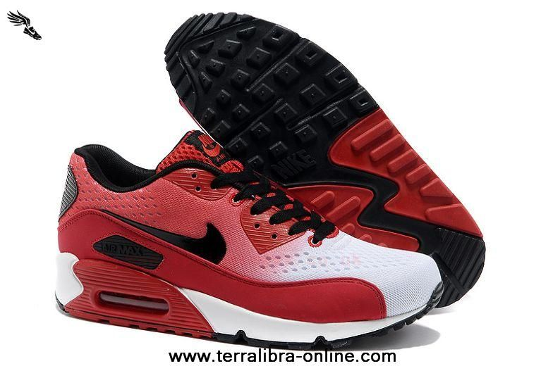 Supply New Air Max 90 Premium EM Mens Shoes Red White Special For Cheap